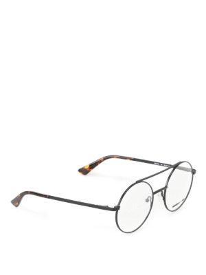 Mcq: glasses - Black metal rounded eyeglasses