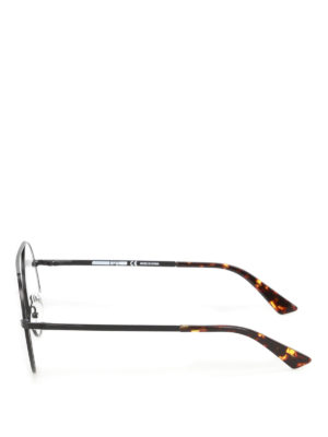 Mcq: glasses online - Black metal rounded eyeglasses