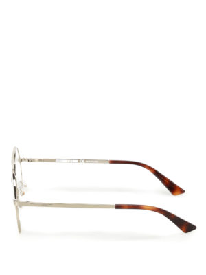 Mcq: glasses online - Gold metal round eyeglasses