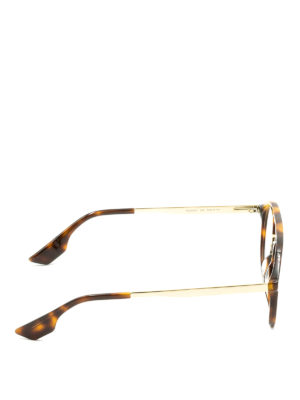 Mcq: glasses online - Havana and metal round eyeglasses