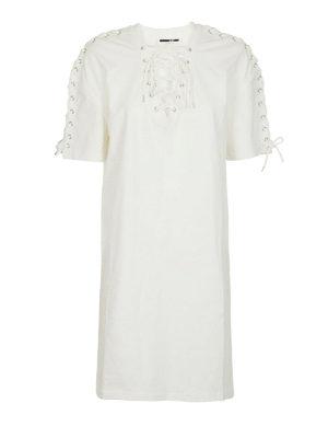 MCQ: abiti al ginocchio - Abito bianco stile corsetto
