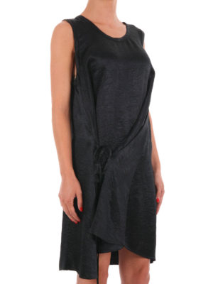 Mcq: knee length dresses online - Sleeveless crumpled effect dress