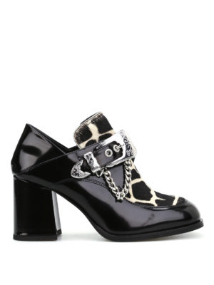 Mcq: Loafers & Slippers - Leah calf hair detailed loafers