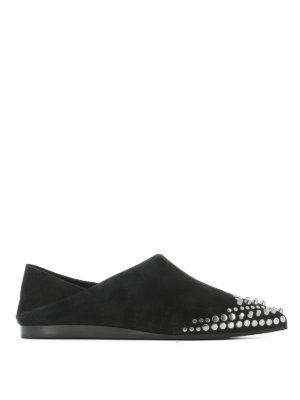 Mcq: Loafers & Slippers - Liberty Fold suede slippers