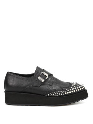 Mcq: Loafers & Slippers - Manor Creeper leather mon straps