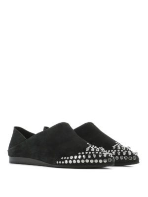 Mcq: Loafers & Slippers online - Liberty Fold suede slippers
