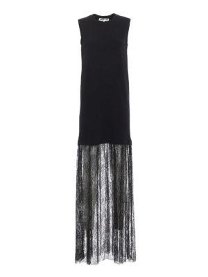Mcq: maxi dresses - Cotton and lace maxi dress