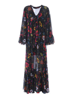 Mcq: maxi dresses - Floral georgette long dress