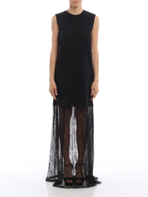 Mcq: maxi dresses online - Cotton and lace maxi dress