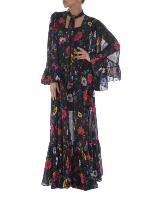 Mcq: maxi dresses online - Floral georgette long dress