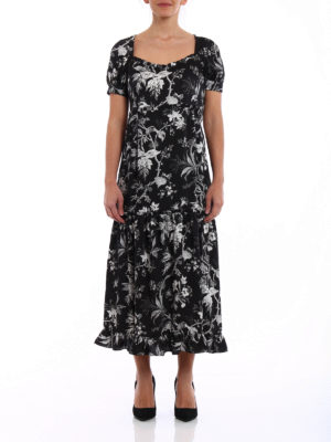 Mcq: maxi dresses online - Short sleeve floral maxi dress