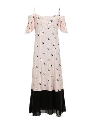 MCQ: abiti lunghi - Abito Pin Up Swallow rosa e nero