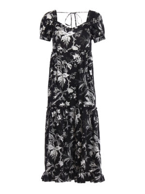 Mcq: maxi dresses - Short sleeve floral maxi dress