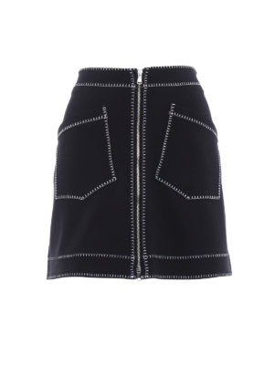 Mcq: mini skirts - Exposed stitchings mini skirt