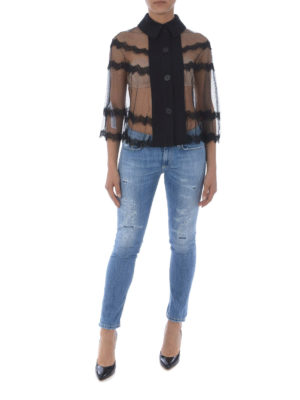MCQ: bluse online - Blusa cappa in tulle trasparente