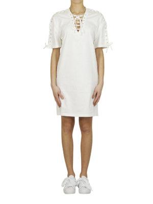 MCQ: abiti al ginocchio online - Abito bianco stile corsetto