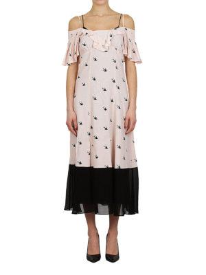 MCQ: abiti lunghi online - Abito Pin Up Swallow rosa e nero