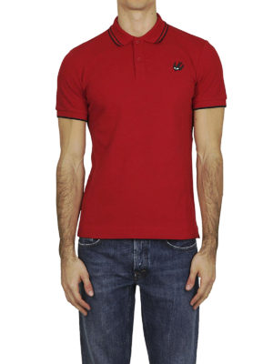 MCQ: polo online - Polo Swallow in cotone rosso