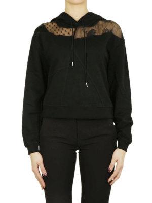 MCQ: Felpe e maglie online - Felpa in cotone e inserto in pizzo