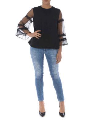 MCQ: Felpe e maglie online - Felpa svasata con maniche in tulle
