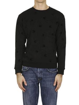 MCQ: Felpe e maglie online - Felpa nera Swallow in velluto