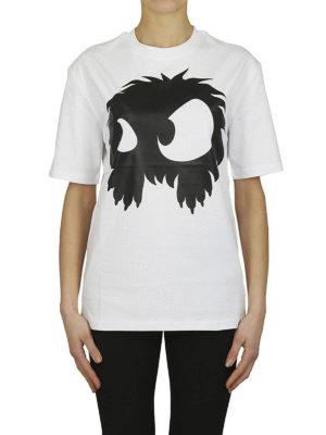MCQ: t-shirt online - T-shirt bianca con stampa mostro