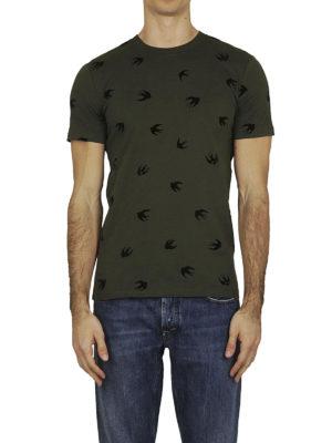 MCQ: t-shirt online - T-shirt Swallow cotone verde scuro