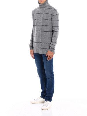 MCQ: maglia a collo alto e polo online - Dolcevita grigio in lana a quadri