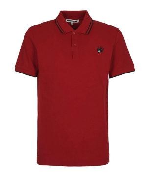 MCQ: polo - Polo Swallow in cotone rosso