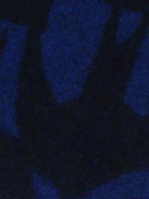Mcq: scarves online - Patterned blue wool blend scarf
