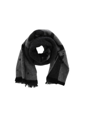 Mcq: scarves - Patterned wool blend scarf