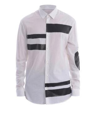Mcq: shirts - Contrasting print detail shirt
