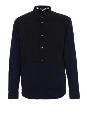 Mcq: shirts - Kangaroo pockets cotton shirt