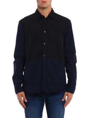 Mcq: shirts online - Kangaroo pockets cotton shirt