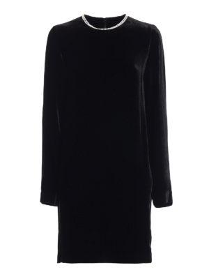 Mcq: short dresses - Embellished soft velvet dress