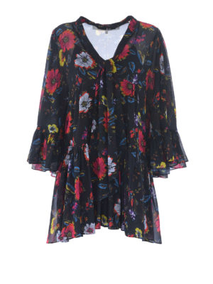 Mcq: short dresses - Floral georgette dress