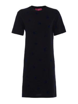 Mcq: short dresses - Micro Swallow black cotton dress