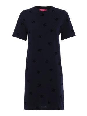 Mcq: short dresses - Micro Swallow cotton dress