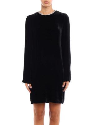 Mcq: short dresses online - Embellished soft velvet dress