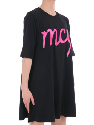 Mcq: short dresses online - Embroidered logo loose mini dress