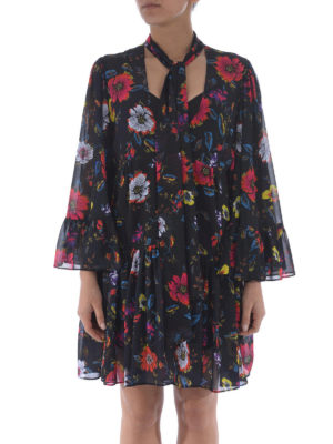 Mcq: short dresses online - Floral georgette dress