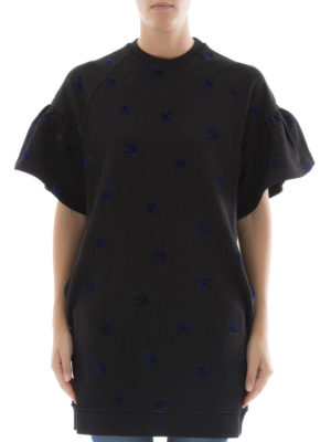 Mcq: short dresses online - Frilled sleeves Swallow dress