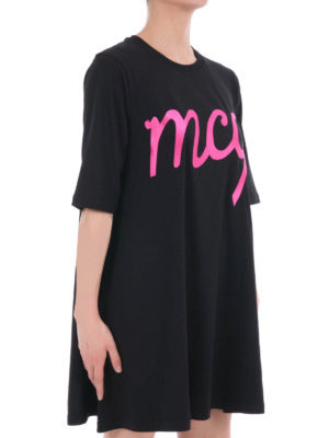 Mcq: short dresses online - Logo detailed over Tee dress