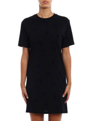 Mcq: short dresses online - Micro Swallow black cotton dress