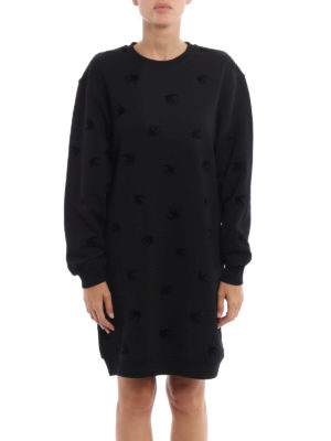 Mcq: short dresses online - Velvet Swallow sweatshirt dress