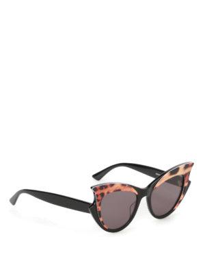 Mcq: sunglasses - Animal print frame sunglasses