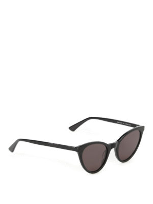 Mcq: sunglasses - Black acetate cat-eye sunglasses