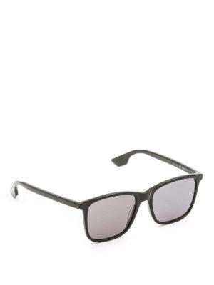 Mcq: sunglasses - Black acetate square sunglasses