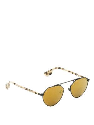 Mcq: sunglasses - Black and havana sunglasses