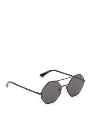 Mcq: sunglasses - Black angular frame sunglasses